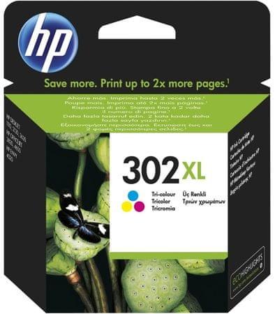 HP kartuša 302XL, barvna (F6U67AE)