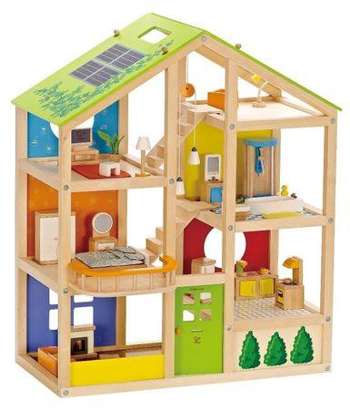 Hape drvena kuća za lutke, opremljena