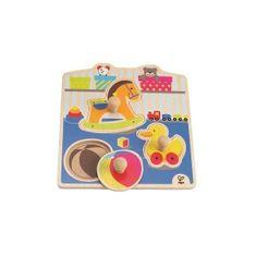 Hape lesena igrača Puzzle Igrače (veliki ročaji)