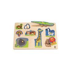 Hape lesena igrača Puzzle Divje živali