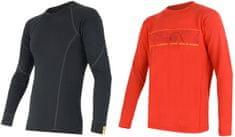 Sensor zestaw męskich koszulek z długim rekawem Merino Wool Active M