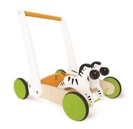 Hape voziček za učenje hoje z zebrami