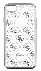 Guess GUHCPSETR4GSI 4G TPU pouzdro Silver pro iPhone 5/5S/SE - rozbaleno