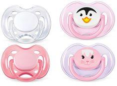 Avent Cumlík SENSITIVE 0-6m. bez BPA, 2 × 2 kusy, ružová/biela + príbal