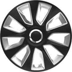 Versaco kołpaki Stratos RC Black/Silver - 4 sztuki