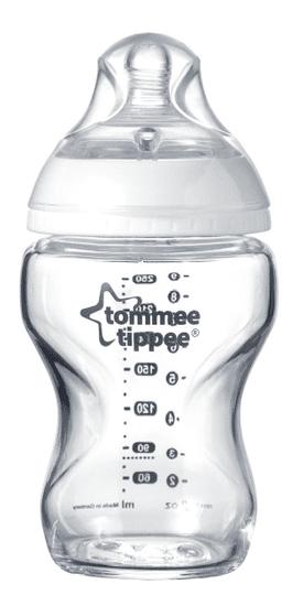 Tommee Tippee Kojenecká láhev C2N 250ml skleněná, 0m+