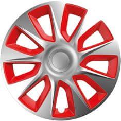 Versaco kołpaki Stratos Silver/Red - 4 sztuki