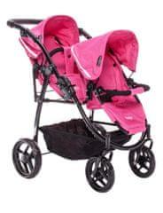 Britax DUO TWIN Játék ikerbabakocsi, Rózsaszín