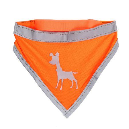 Alcott Fényvisszaverős kutyakendő, Neonnarancs, L