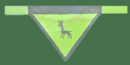 Alcott rutka za psa, neon rumena, S
