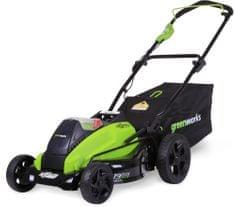 Greenworks Akumulátorová travní sekačka 40 V s indukčním motorem (GD40LM45)