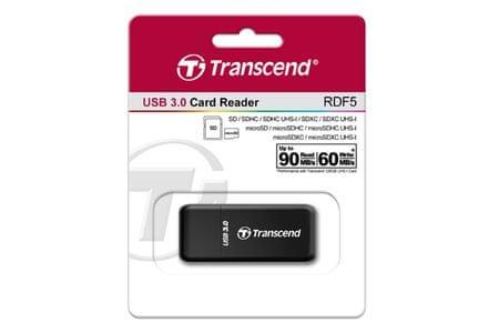 Transcend čitač kartica RFD5, crni