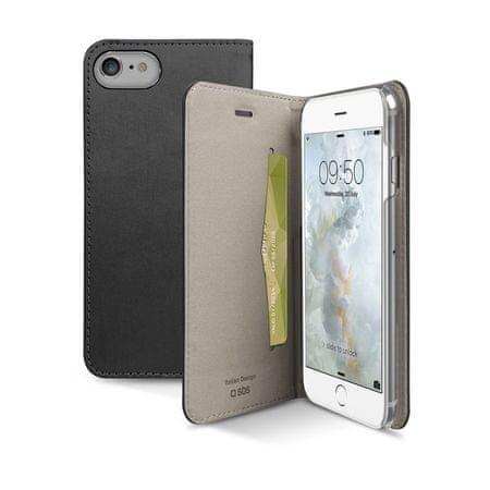 SBS preklopna torbica Gold za iPhone 7, tamno srebrna
