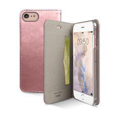 SBS preklopna torbica Gold iPhone 7, ružičasta