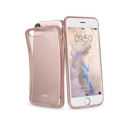 SBS maska Extraslim Gold za iPhone 7, ružičasta