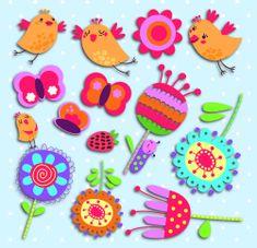 Crearreda dekorativna zidna naljepnica Ptičice i cvijeće, M