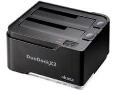 Akasa priklopna postaja DuoDock X2, črno