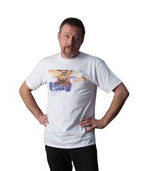 KlokArt pánské tričko Gildan Soft 64000 bílá