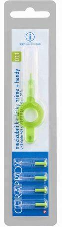Curaprox szczoteczka do przestrzeni międzyzębowych Prime Plus Handy UHS + 409 – zielony