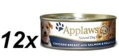 Applaws Mokra karma dla psa - kurczak, łosoś i warzywa 12 x 156 g