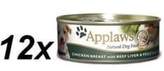 Applaws Mokra karma dla psa - kurczak, wątroba wołowa i warzya 12 x 156 g