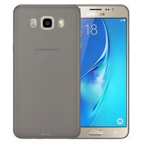 tanek silikonski ovitek za Samsung Galaxy J1 2016 (J120), prozorno-črn