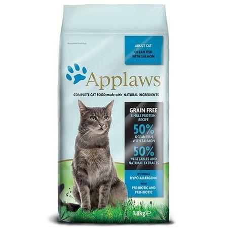 Applaws mačja hrana, morske ribe in losos, 1,8 kg