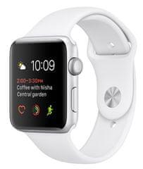 Apple Watch Series 1, 38 mm, stříbrný hliník – bílý sportovní řemínek - použité