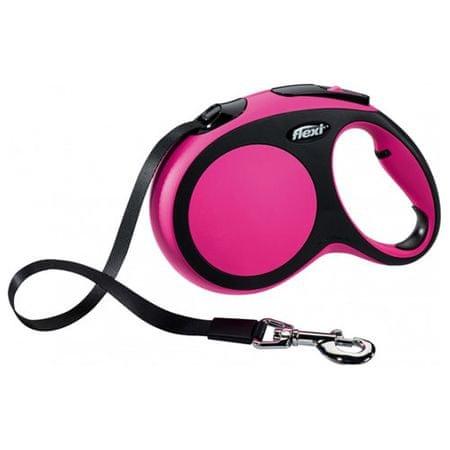Flexi povodec New Comfort L 5m/60kg, roza