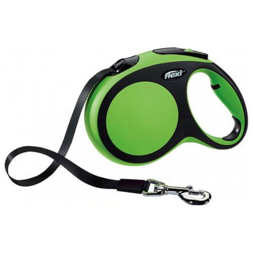 Flexi Vodítko New Comfort M pásek 5m/25kg zelené