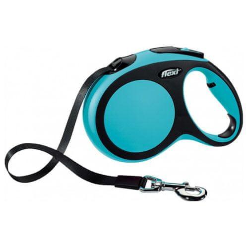 Flexi Vodítko New Comfort M pásek 5m/25kg modré