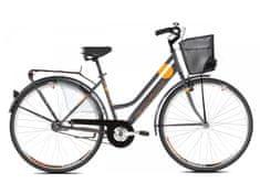 Capriolo gradski bicikl Amsterdam Lady 17, sivo-narančasti