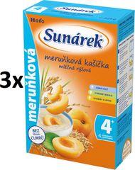 Sunárek Meruňková kašička mléčná, 3x225g