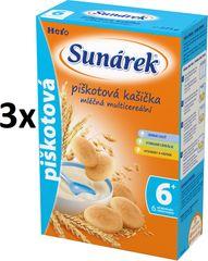 Sunárek Piškotová kašička mliečna, 3x225g