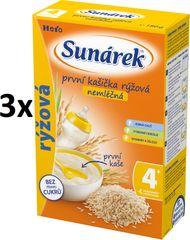 Sunárek Prvá kašička ryžová nemliečna, 3x180g