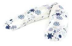 Theraline jastuk za dojenje, bijeli s plavim cvijećem