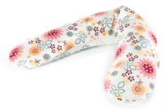 Theraline jastuk za dojenje, bijeli s proljetnim cvijećem
