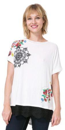 Desigual ženska majica Oporto S smetane