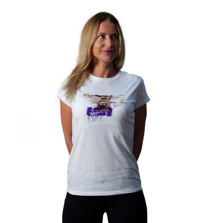 KlokArt dámské tričko Gildan Soft 64000 bílá S