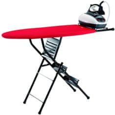 JATA Deska do prasowania ze schodkami 70 cm, czerwona