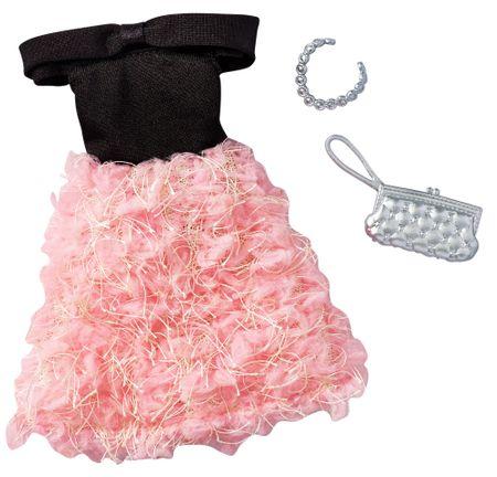 54be462a8950 Mattel Barbie Šaty a doplnky čierno-ružové šaty