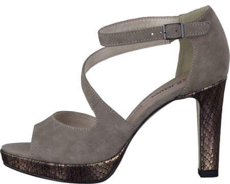 61b8314627bd s.Oliver dámske sandály 37 sivá