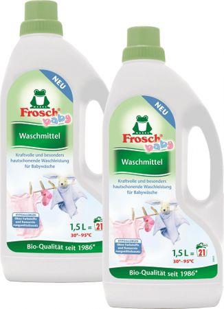 Frosch EKO 2x1,5 litra hypoalergénny prací gél na dojčenské prádlo