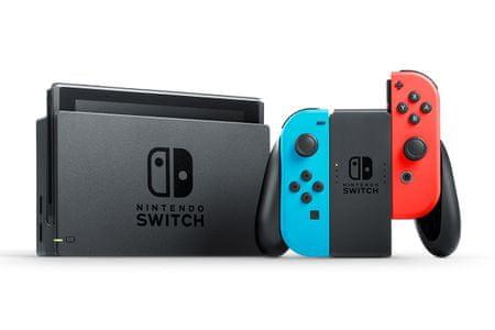 Nintendo Switch + Joy-Con modrý/červený