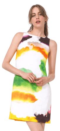 Desigual ženska obleka Nilina 40 večbarvna
