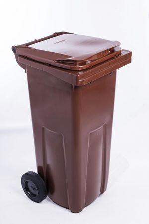 J.A.D. TOOLS odpadkový kôš 240 l hnedý plastový