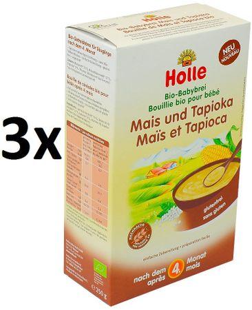 Holle Bio kaše kukuřičná s tapiokou - 3 x 250g
