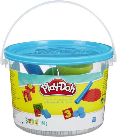 Play-Doh Szám oktatókészlet gyurmából, vödörben