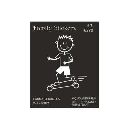 nalepka Family Boy skating 9x12cm (6270)