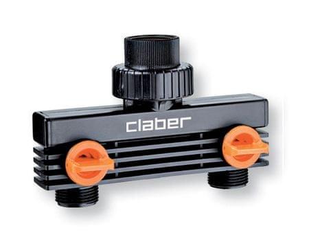 """Claber priključek za vodo, dvojni, 3/4"""" (8589)"""